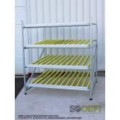LEAN CONCEPT - Meuble de convoyage statique à 4 niveaux pour picking. SODEFI