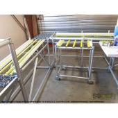 LEAN CONCEPT - Ligne de convoyage avec desserte et table omnidirectionnelle. Conception modulaire, ergonomique et sur-mesure. SODEFI