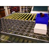 LEAN CONCEPT - Convoyage à bande, rails à galets et galets omnidirectionnels sur une structure modulaire. SODEFI