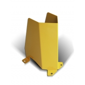 METALCHOC - sabot métallique de face pour la protection des rayonnages lourds et racks à palettes. Sabot en acier personnalisable, Made in France, SODEFI