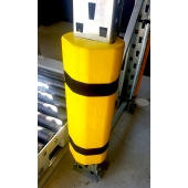 ABSORBCHOC 2.0 de SODEFI - mousse amortissante avec plaque interne anti-perforation pour la protection des palettiers et rack à palette, Made in France, personnalisation possible