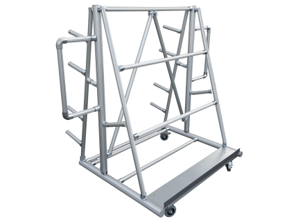 Cantilever modulaire, ergonomique et robuste pour le stockage des profilés longs et des surfaces planes (plateau, vitrage, PEHD, ...) en LEAN manufacturing - SODEFI