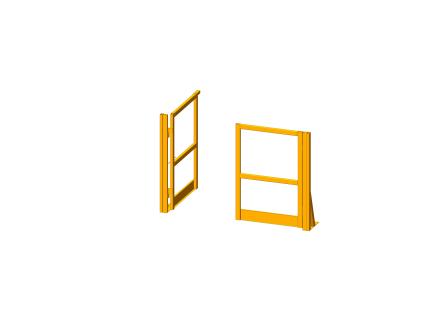 Portillon pour plateforme/mezzanine - 1200 mm