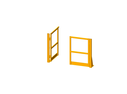 Portillon pour plateforme/mezzanine - 1500 mm
